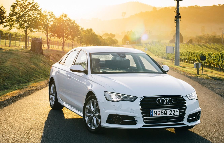 Photo wallpaper Audi, Audi, TDI, white, sedan, quattro, Sedan, Quattro, AU-spec, 2015, S line