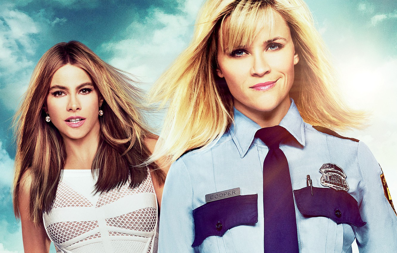 Photo wallpaper Hot Pursuit, Reese Witherspoon, Reese Witherspoon, Sofia Vergara, Sofia Vergara, Beauty on the run