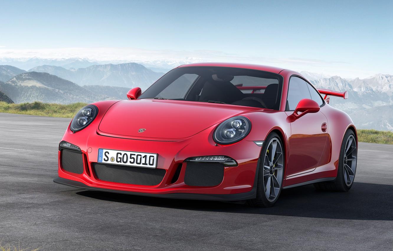 Photo wallpaper Red, 911, Porsche, Red, Porsche, Car, GT3, Sports car, Sportcar, 2014