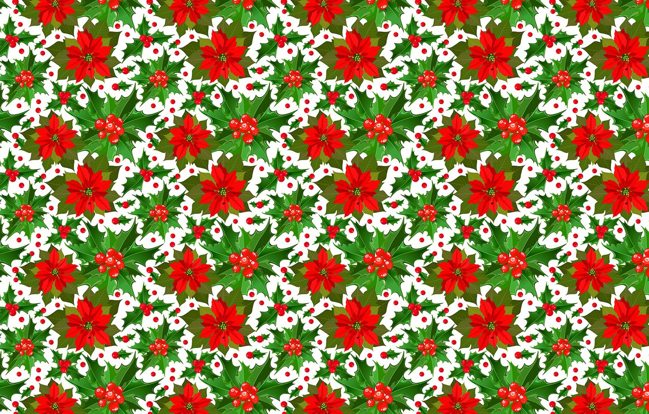 Photo wallpaper background, holiday, Christmas, texture, New year, Christmas, poinsettia
