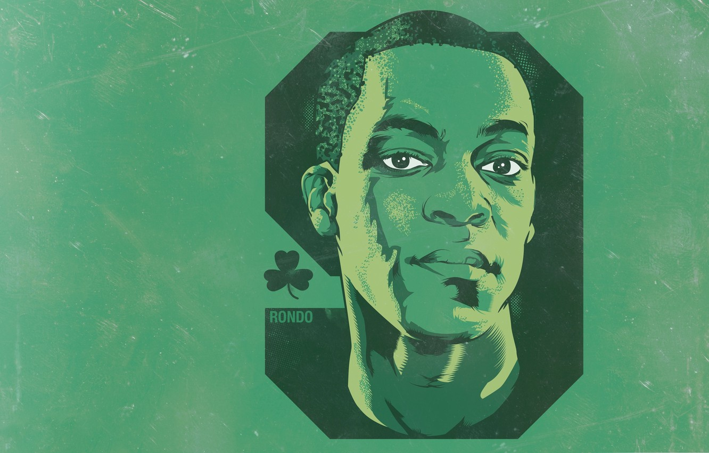 Wallpaper Green Face Background Boston Celtics Player Rajon Rondo Clover Images For Desktop Section Sport Download