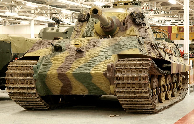 "Photo wallpaper Museum, German, heavy, ""king tiger"", танк PzKpfw VI (Tiger II)"