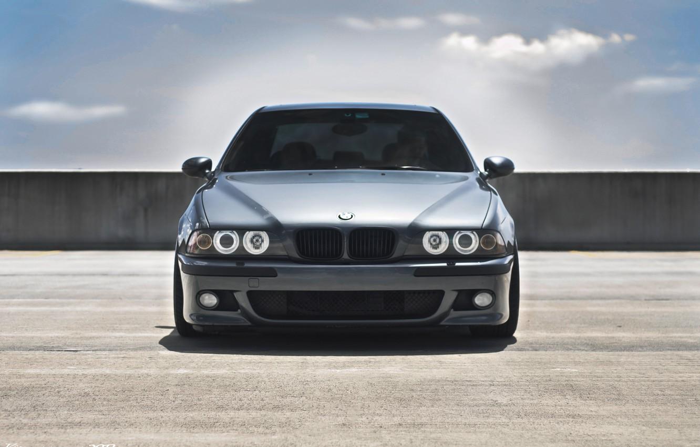 Photo wallpaper bmw, BMW, front view, E39