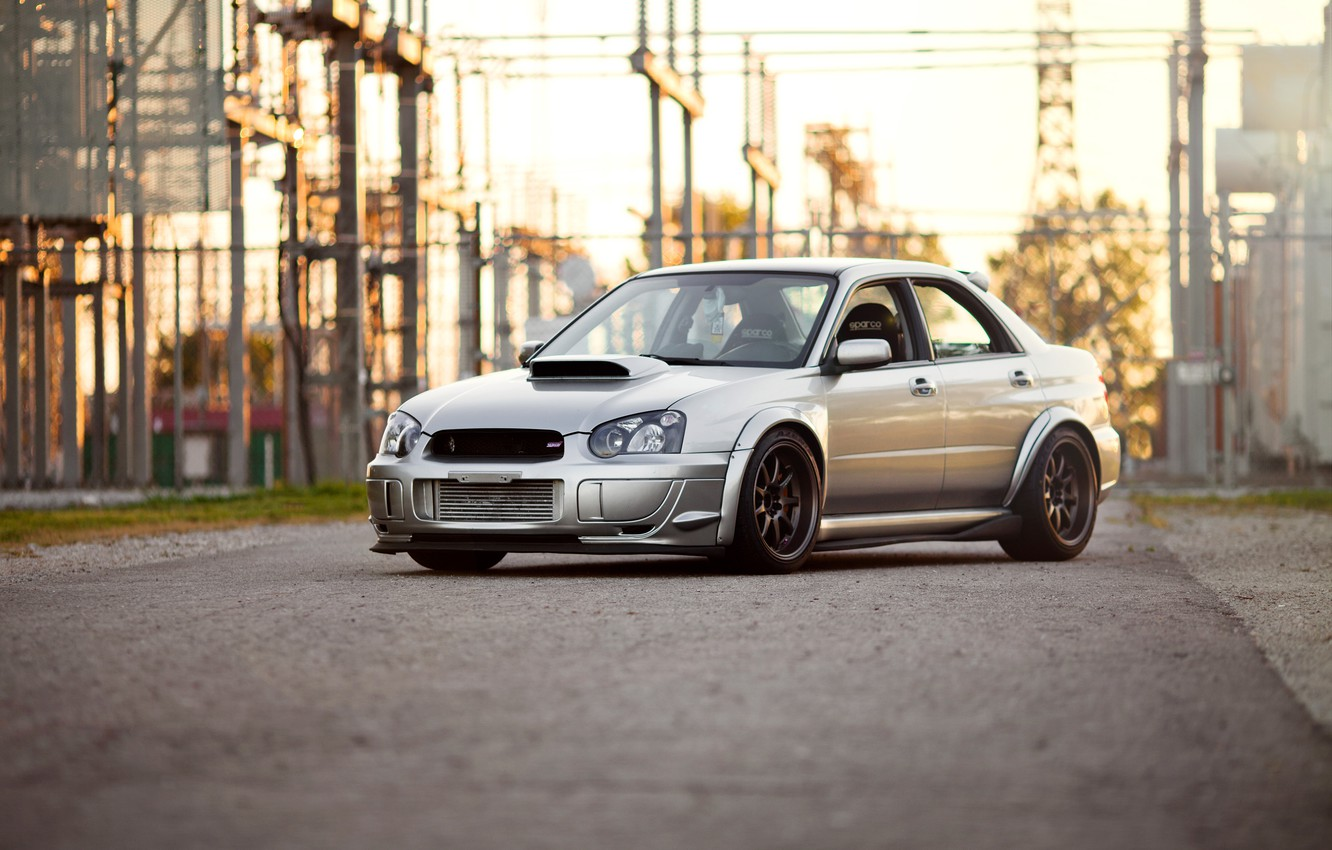 Photo wallpaper subaru, wrx, impreza, sti, 2003