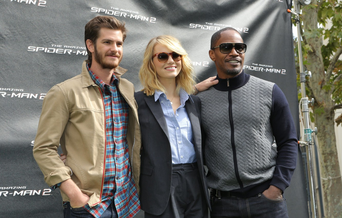 Wallpaper Emma Stone Andrew Garfield Jamie Foxx The Amazing Spider Man 2 New The Amazing Spider Man 2 Images For Desktop Section Filmy Download