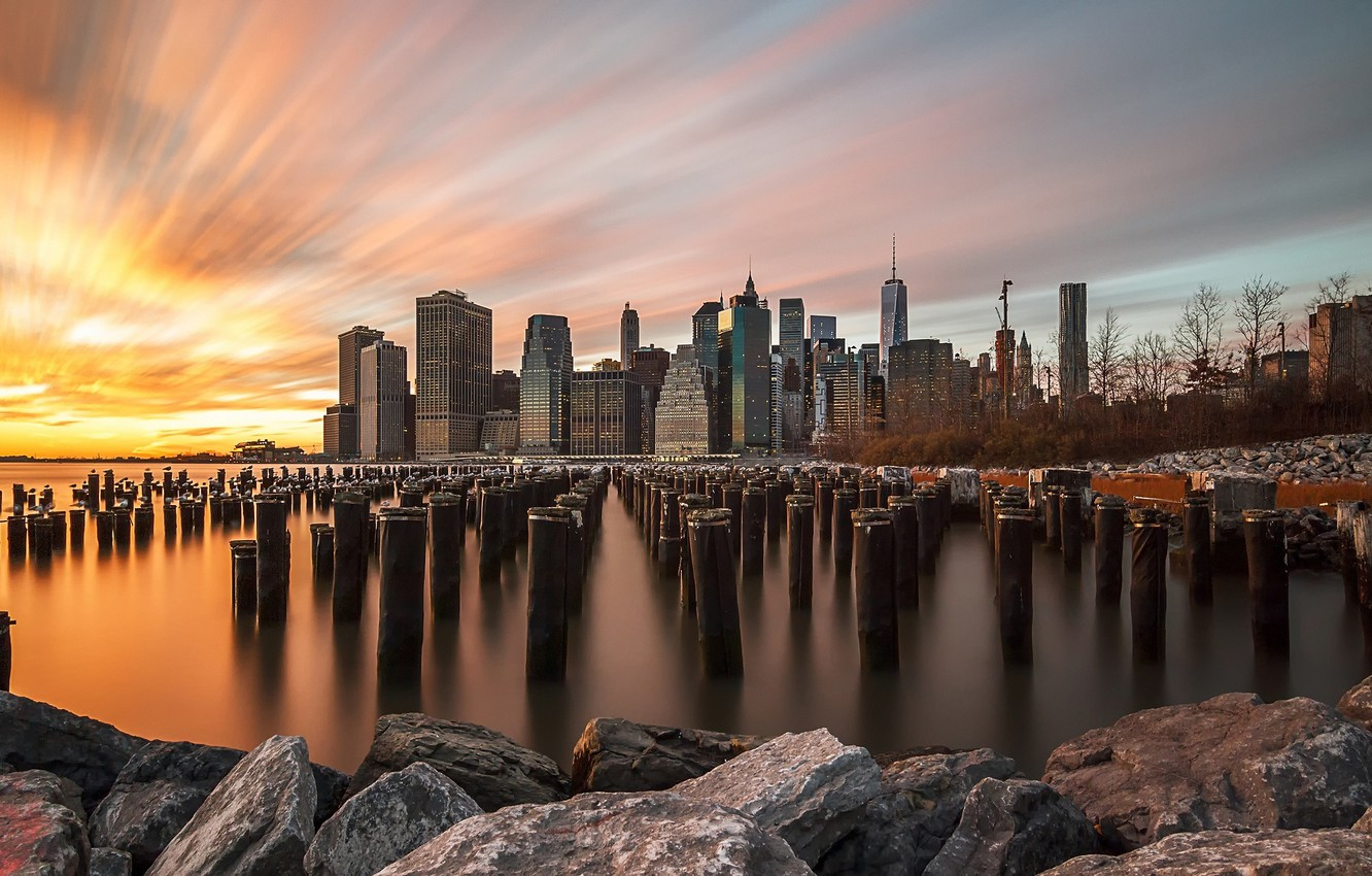 Photo wallpaper the sky, the city, excerpt, USA, New York