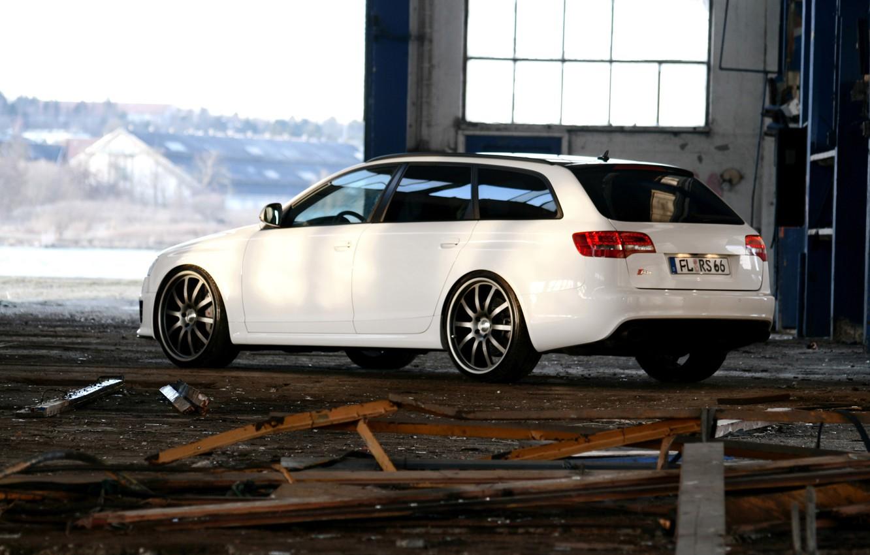 Photo wallpaper audi, rs6, sport car, white car
