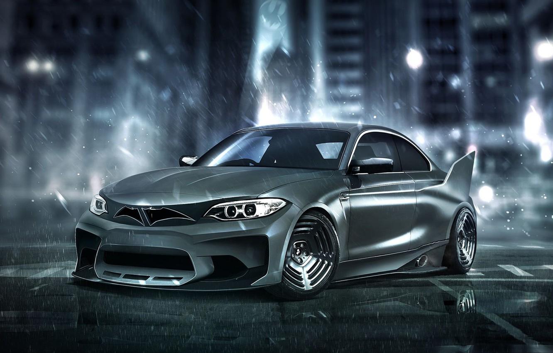 Photo wallpaper auto, BMW, BMW, Batman, Batman, superhero, Marvel, Marvel, DC Superheroes