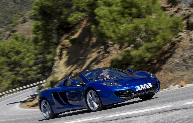 Photo wallpaper blue, spider, spider, McLaren, Mclaren MP4-12C, MP4-12C