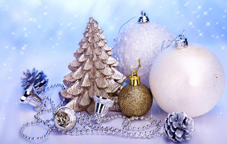 Photo wallpaper balls, magic, beads, Tree, white, bells, bump, bumps