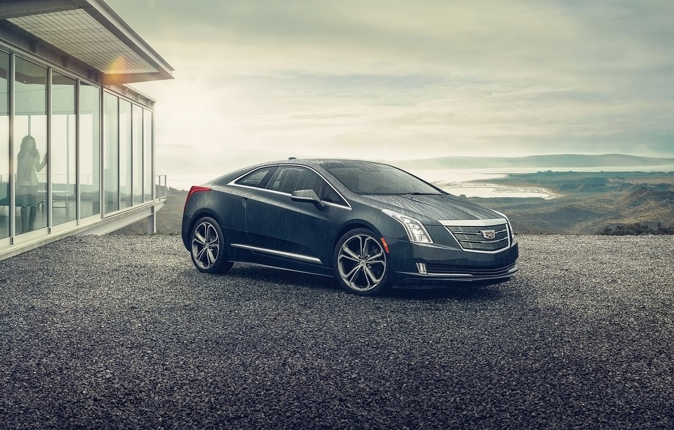 Photo wallpaper girl, background, Cadillac, coupe, the front, Cadillac, ELR, ELR