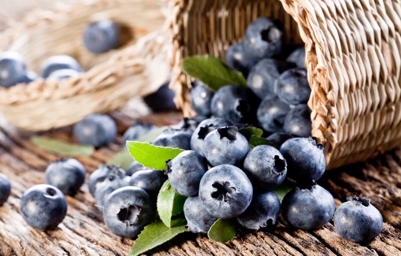 Photo wallpaper berries, blueberries, fresh, blueberry, berries
