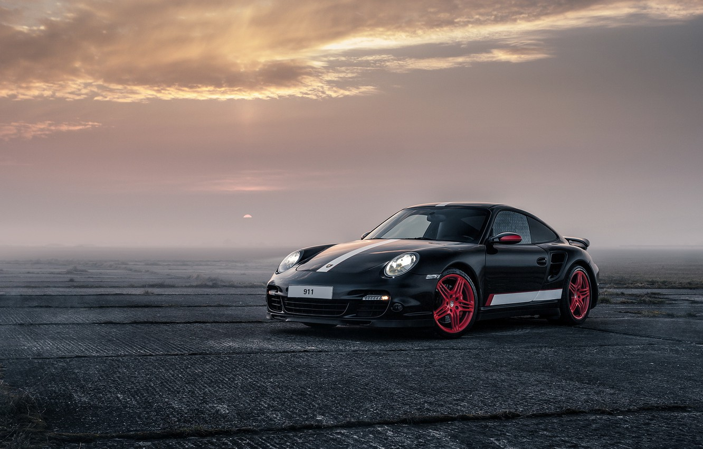 Photo wallpaper 911, Porsche, Black, Turbo