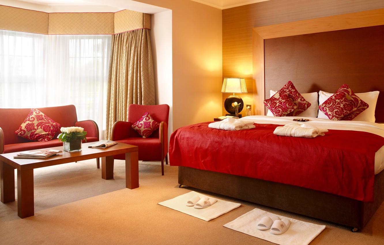 Photo wallpaper comfort, bed, interior, Bedroom