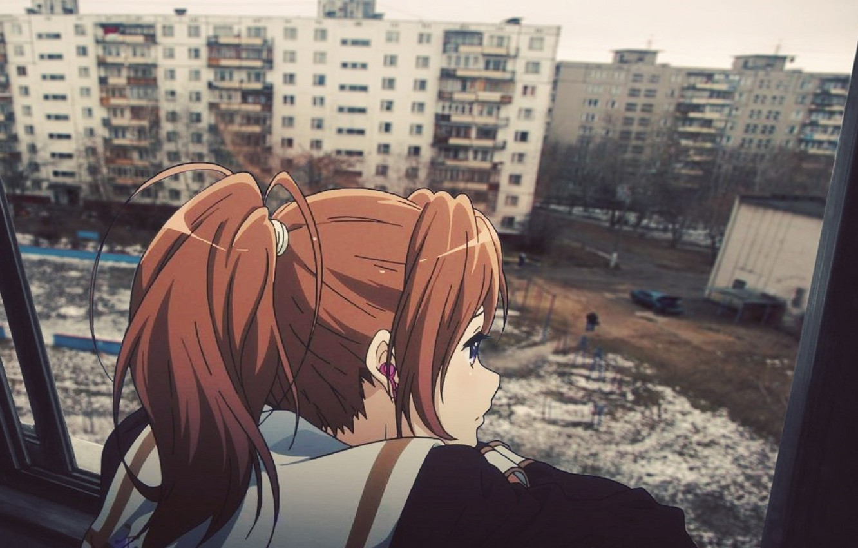 Photo wallpaper anime, yard, Russia, Chan