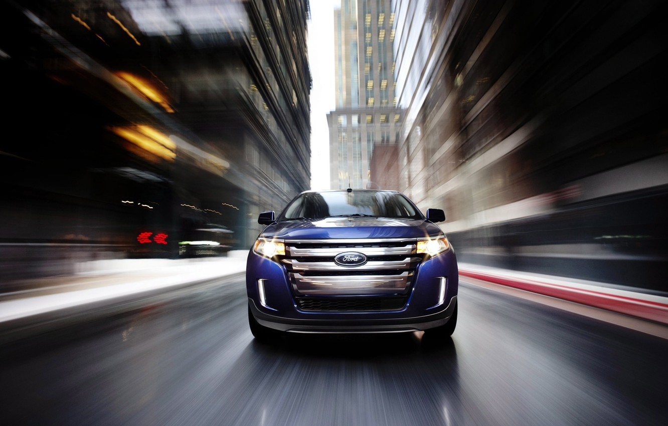 Photo wallpaper the city, Ford, Edge