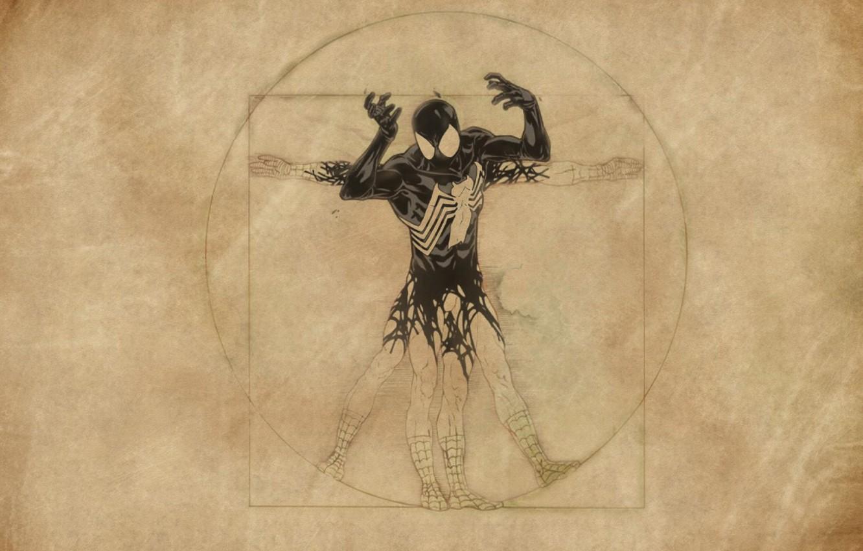 Photo wallpaper spider-man, venom, Leonardo da Vinci