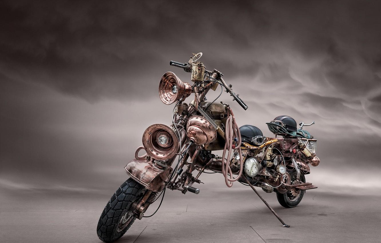 Photo wallpaper motorcycle, steampunk, bike