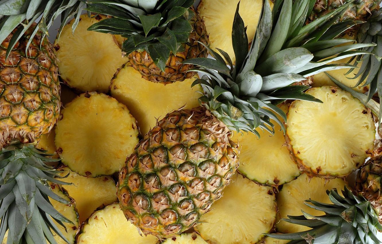 fon ananas frukt zheltyy eda