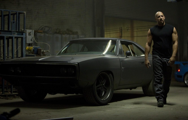 Photo wallpaper car, black, actor, black, Dodge, dodge, muscle, charger, 1970, fast five, vin diesel, VIN diesel, …