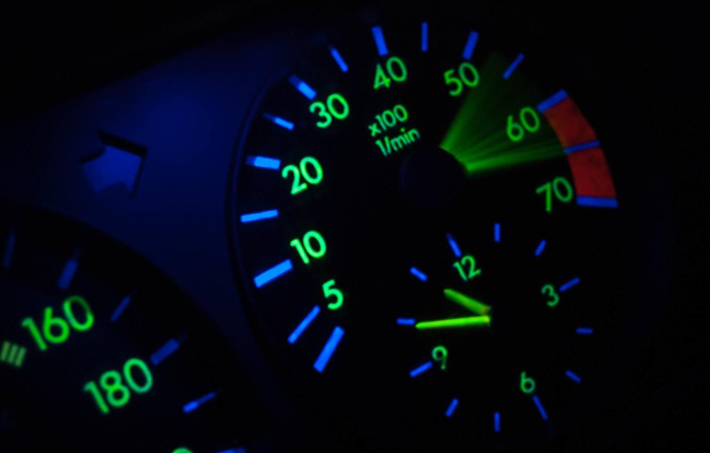 Photo wallpaper speed, speedometer, tachometer, mercedes, mercedes-benz, Mercedes, gelding, Mercedes, benz, 190, w201, 190e, momentum