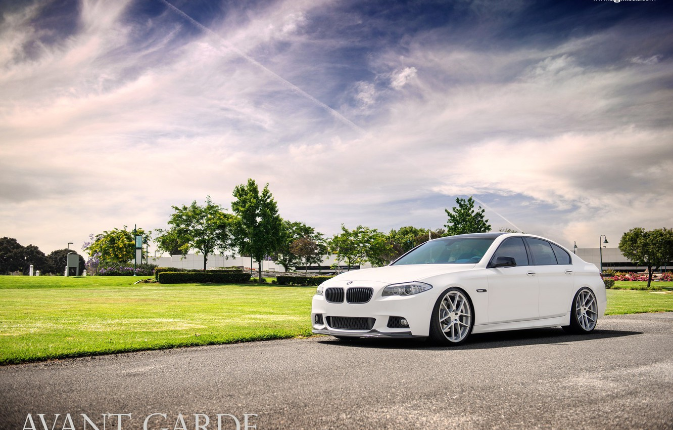 Photo wallpaper white, M-pack, agforged, BMW 5-Series