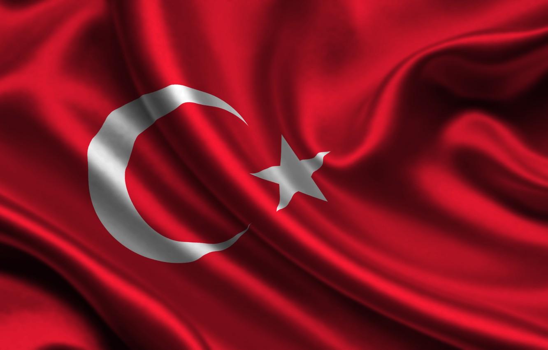 Photo wallpaper flag, Turkey, turkey