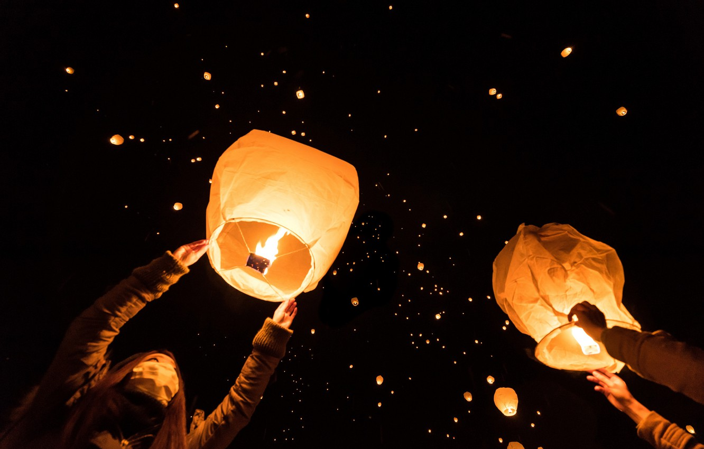 sky lantern night festival
