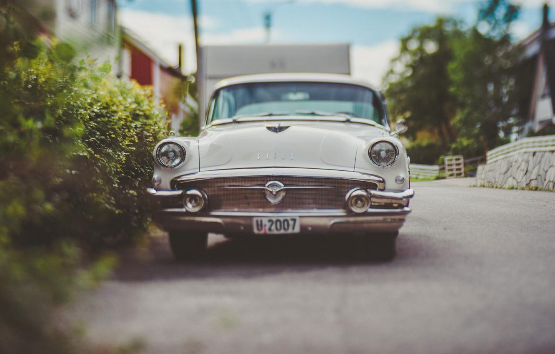 Photo wallpaper machine, street, car, Buick