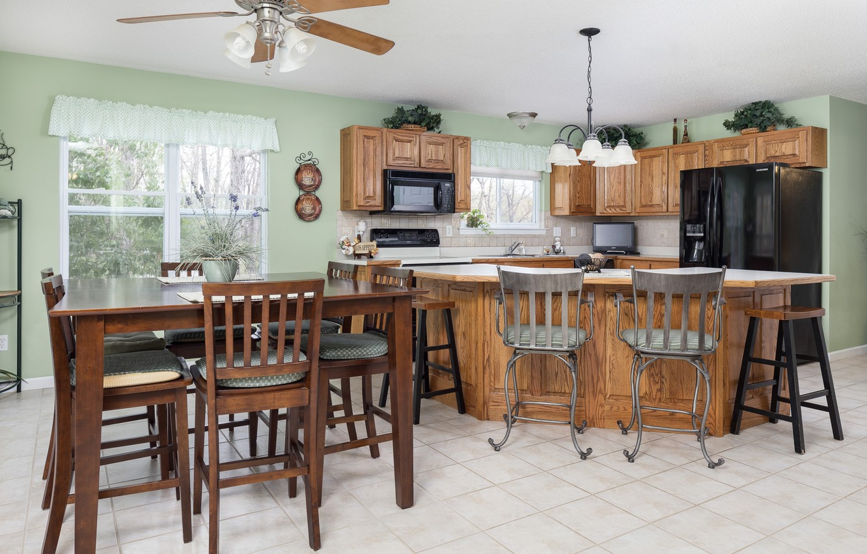 Photo wallpaper design, furniture, chairs, kitchen