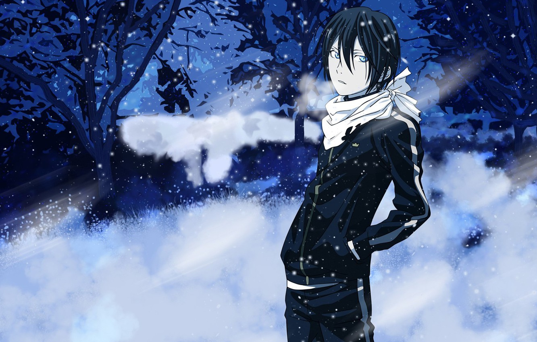 Photo wallpaper Anime, snow., Yato, Noragami