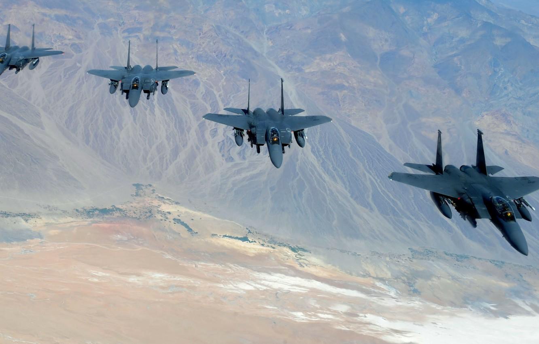 "Photo wallpaper fighters, Eagle, flight, F-15, ""Eagle"""