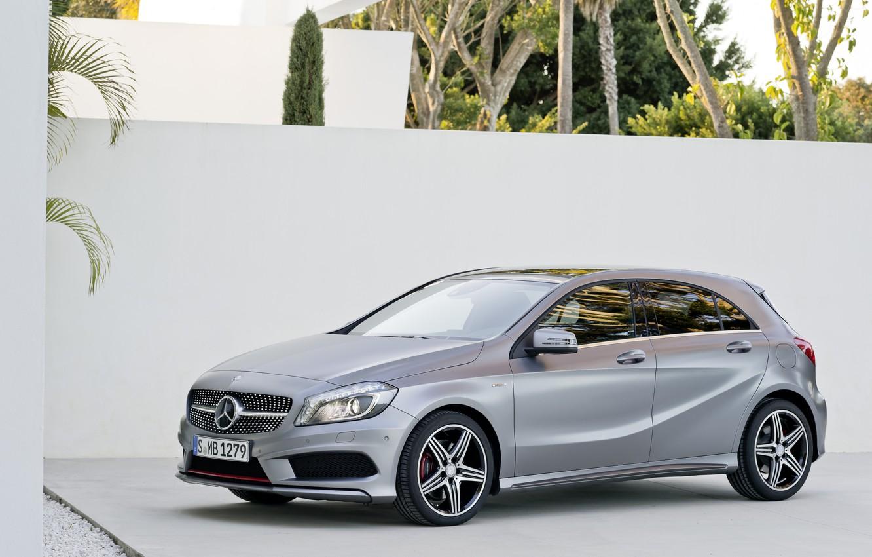 Photo wallpaper grey, Mercedes, Mercedes, A class, AMG package