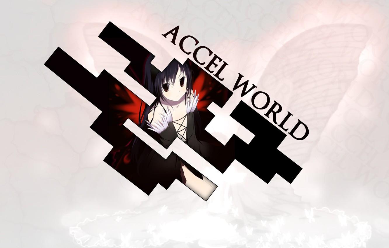 Wallpaper Anime Silver Raven Black Lotus Haru Accel World