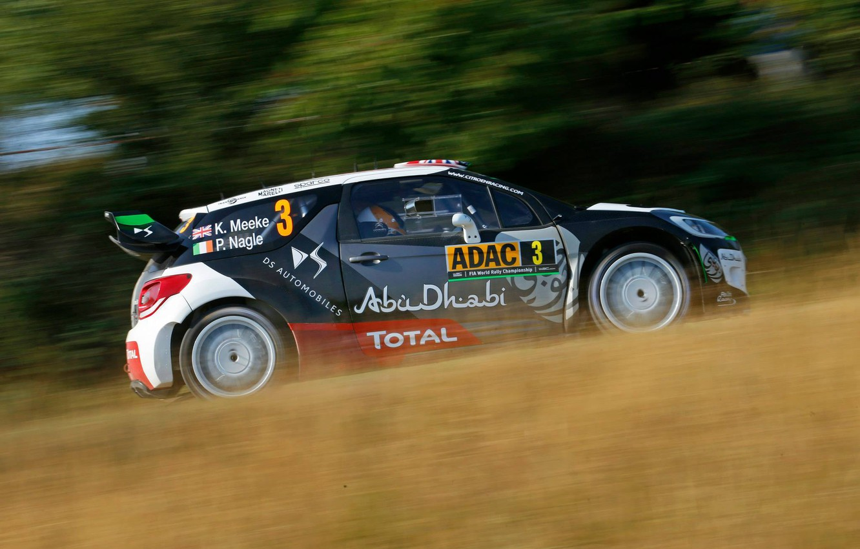 Photo wallpaper Profile, Citroen, DS3, WRC, Rally, Rally, Kris Meeke