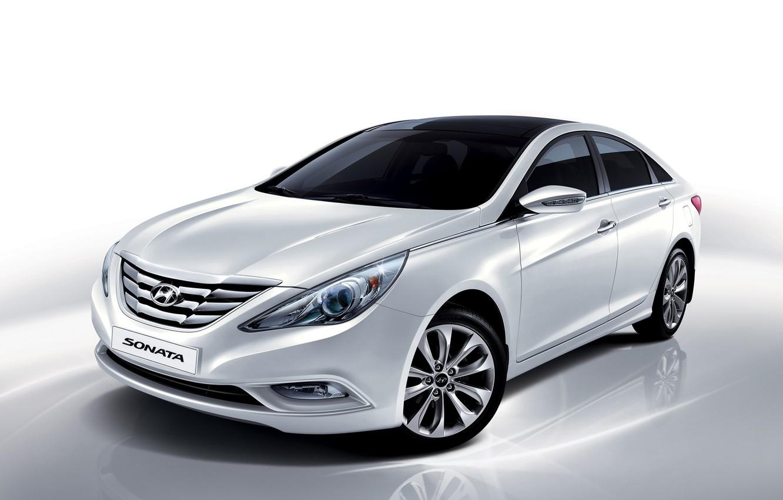 Photo wallpaper white, Hyundai, 2009, Hyundai, Sonata, Sonata, i45