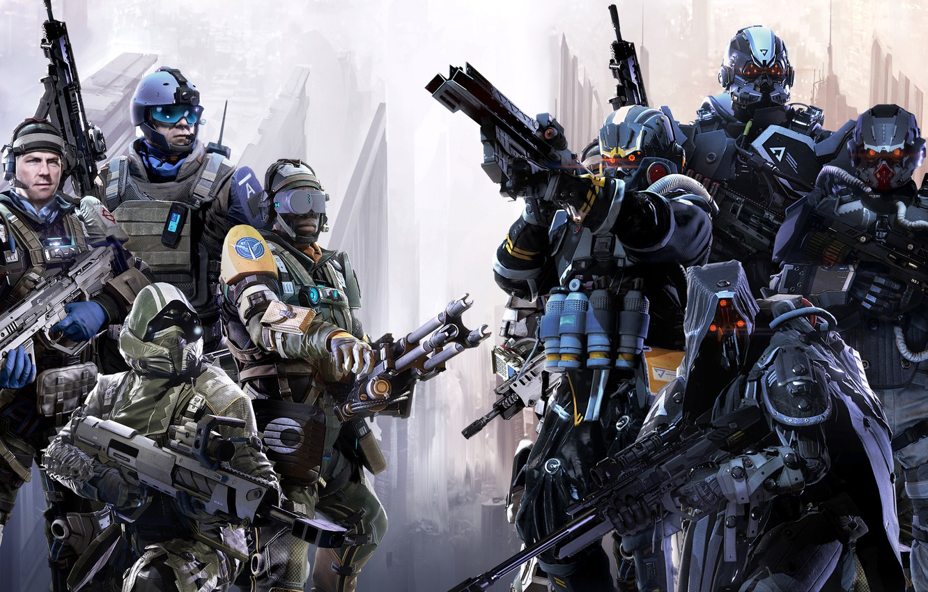 Photo wallpaper weapons, soldiers, equipment, multiplayer, multiplayer, Sony Computer Entertainment, Guerrilla Games, Killzone: Shadow Fall, Killzone: prisoner …