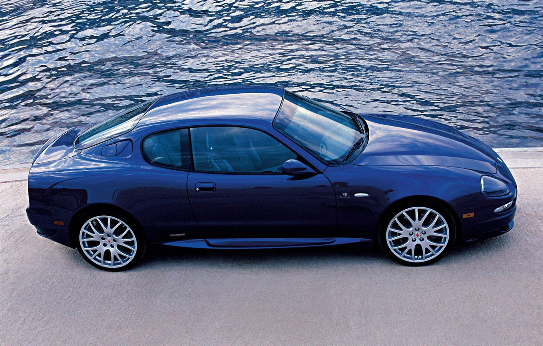 Photo wallpaper Maserati, blue, gransport