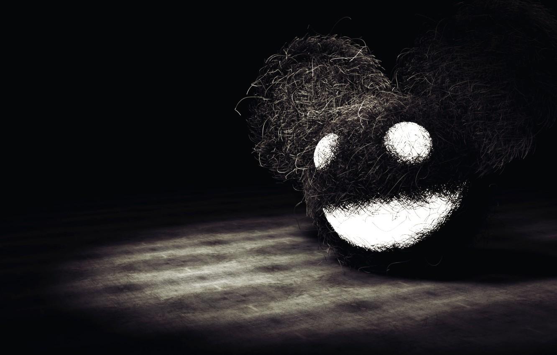 Photo wallpaper eyes, smile, dark, head, mouth, Mickey mouse, Deadmau5