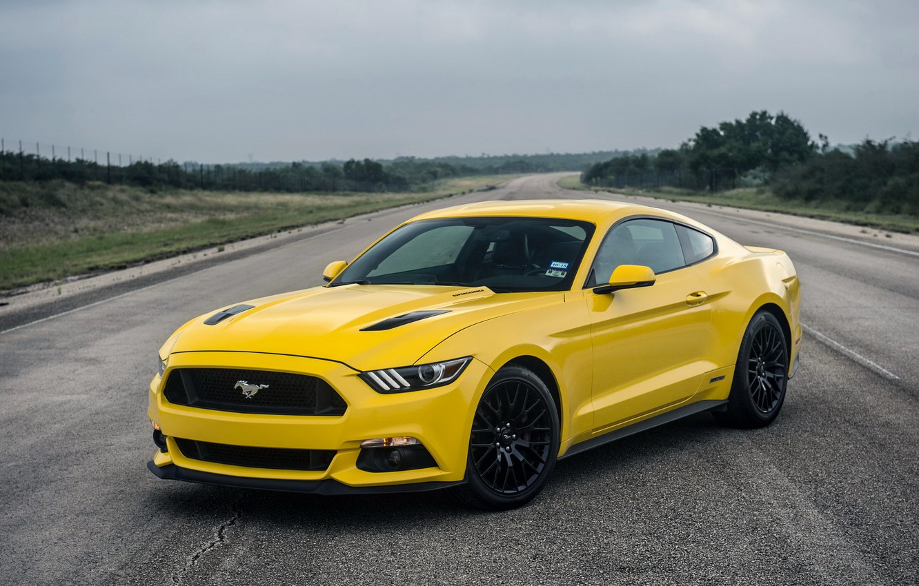 Photo wallpaper Mustang, Ford, Mustang, Ford, Hennessey, Supercharged, 2015, HPE750