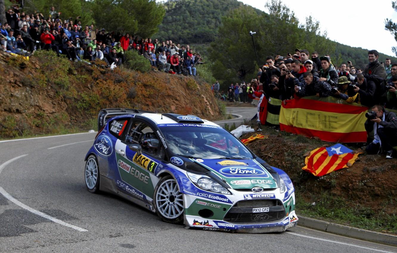 Photo wallpaper Ford, Turn, WRC, Rally, Rally, Fiesta, Latvala