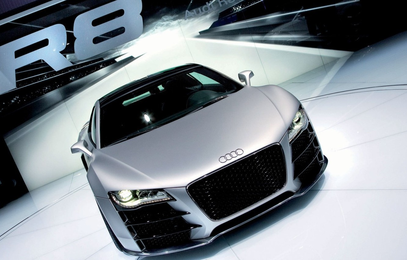 Photo wallpaper audi, silver
