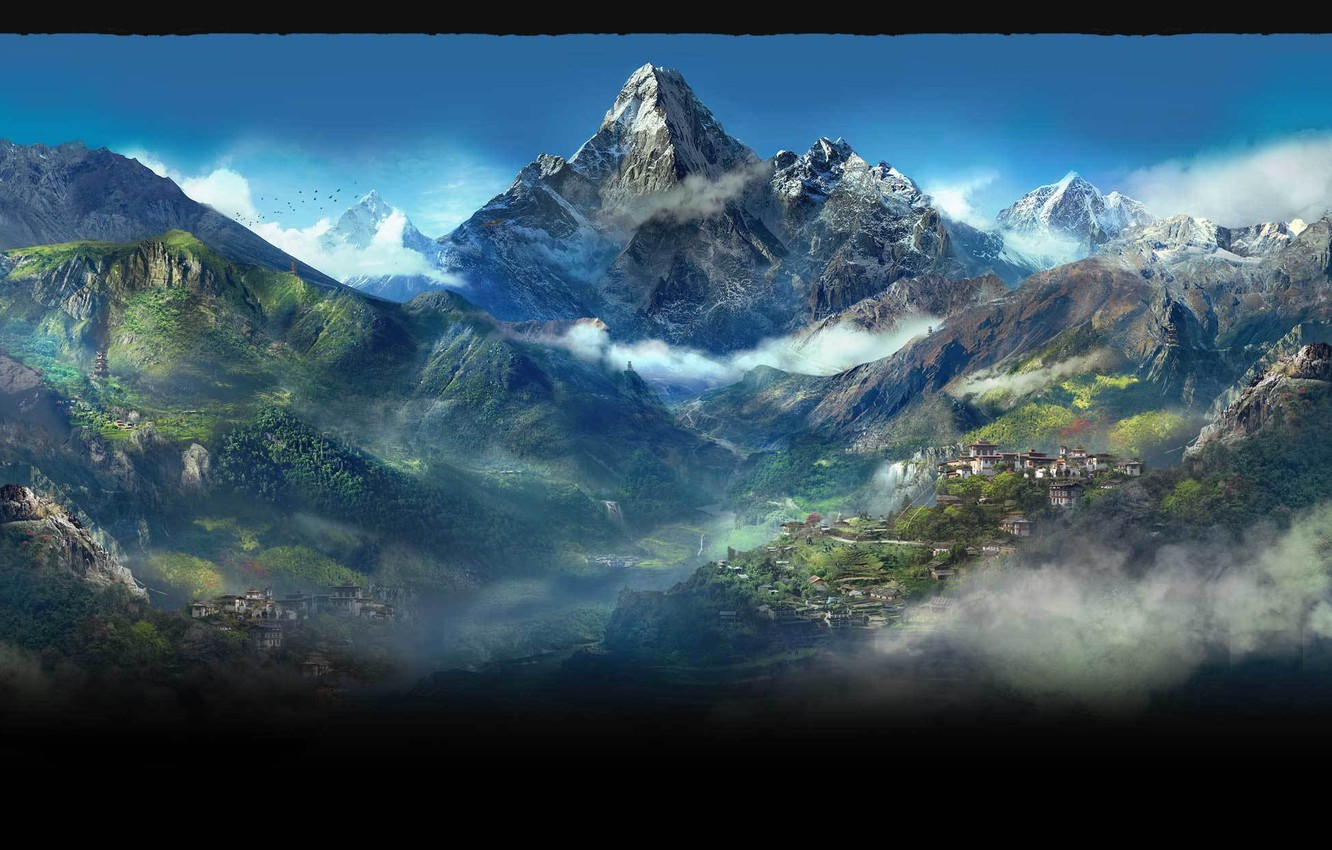 Wallpaper Mountains City Kyrat Far Cry 4 Images For