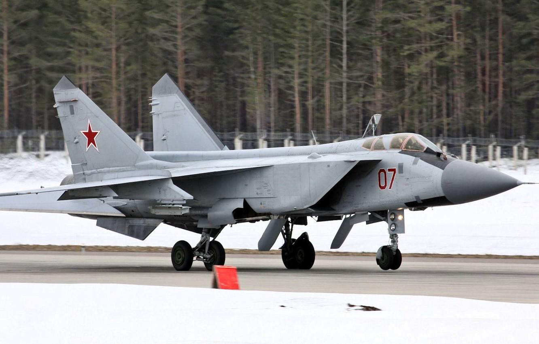 Photo wallpaper fighter-interceptor, Foxhound, The MiG-31