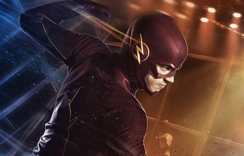 Photo wallpaper fiction, costume, the series, superhero, Flash, The Flash, Grant Gustin, Grant Gastin, Barry Allen