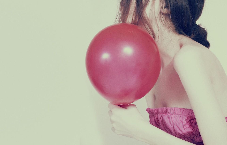 Photo wallpaper girl, background, pink, Wallpaper, mood, dress, brunette, full screen, HD wallpapers, Mar, Marik