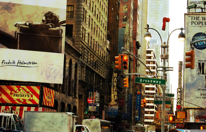 Wallpaper City Vintage Retro New York Old Broadway Images For Desktop Section Gorod Download