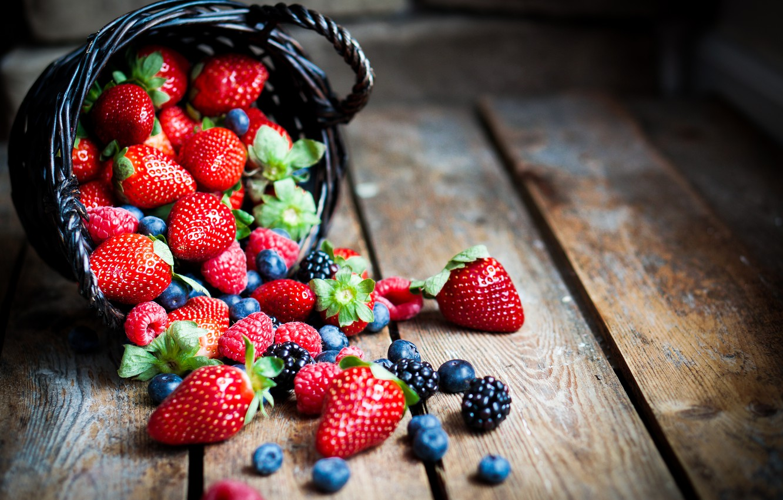 Photo wallpaper berries, raspberry, blueberries, strawberry, BlackBerry, strawberry, blueberry, berries, raspberry, BlackBerry