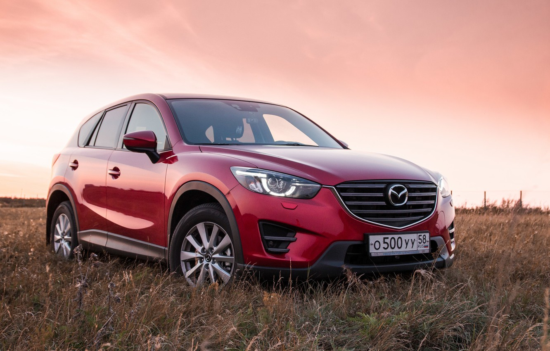 Photo wallpaper red, Mazda, crossover, suv, CX-5, Kirill Kulikov