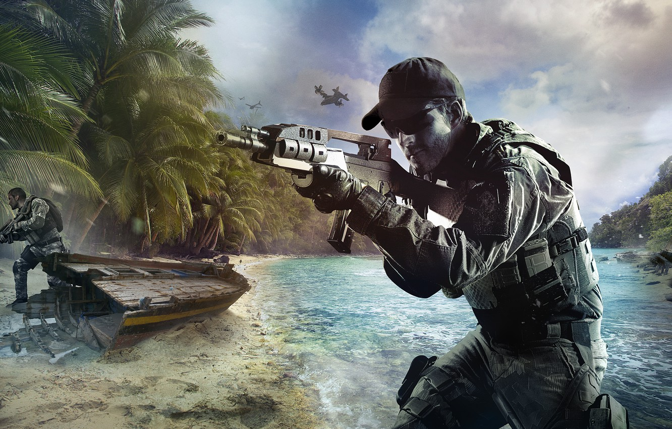 Wallpaper Beach War Boat Island Soldiers Call Of Duty Black